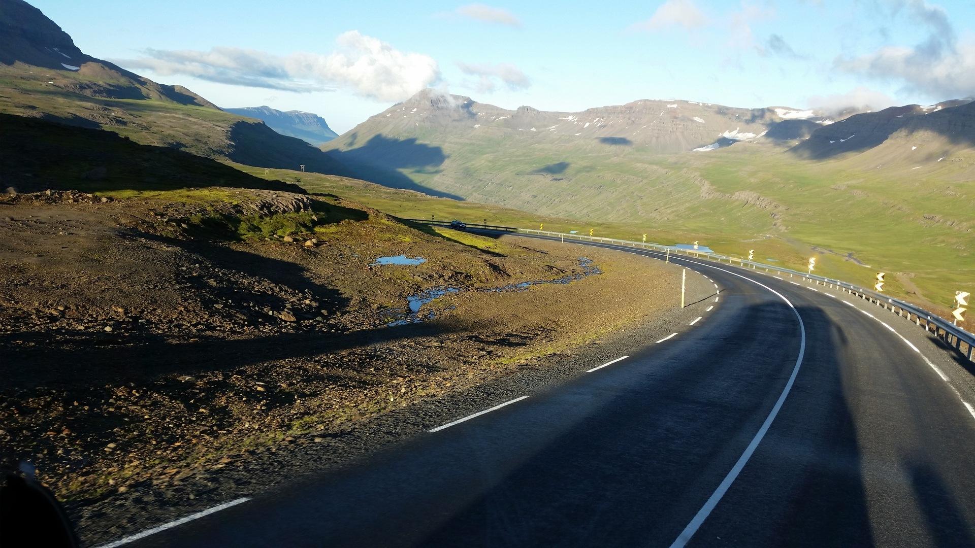 24 août : de quelque part sur la route 94 à Seyðisfjörður