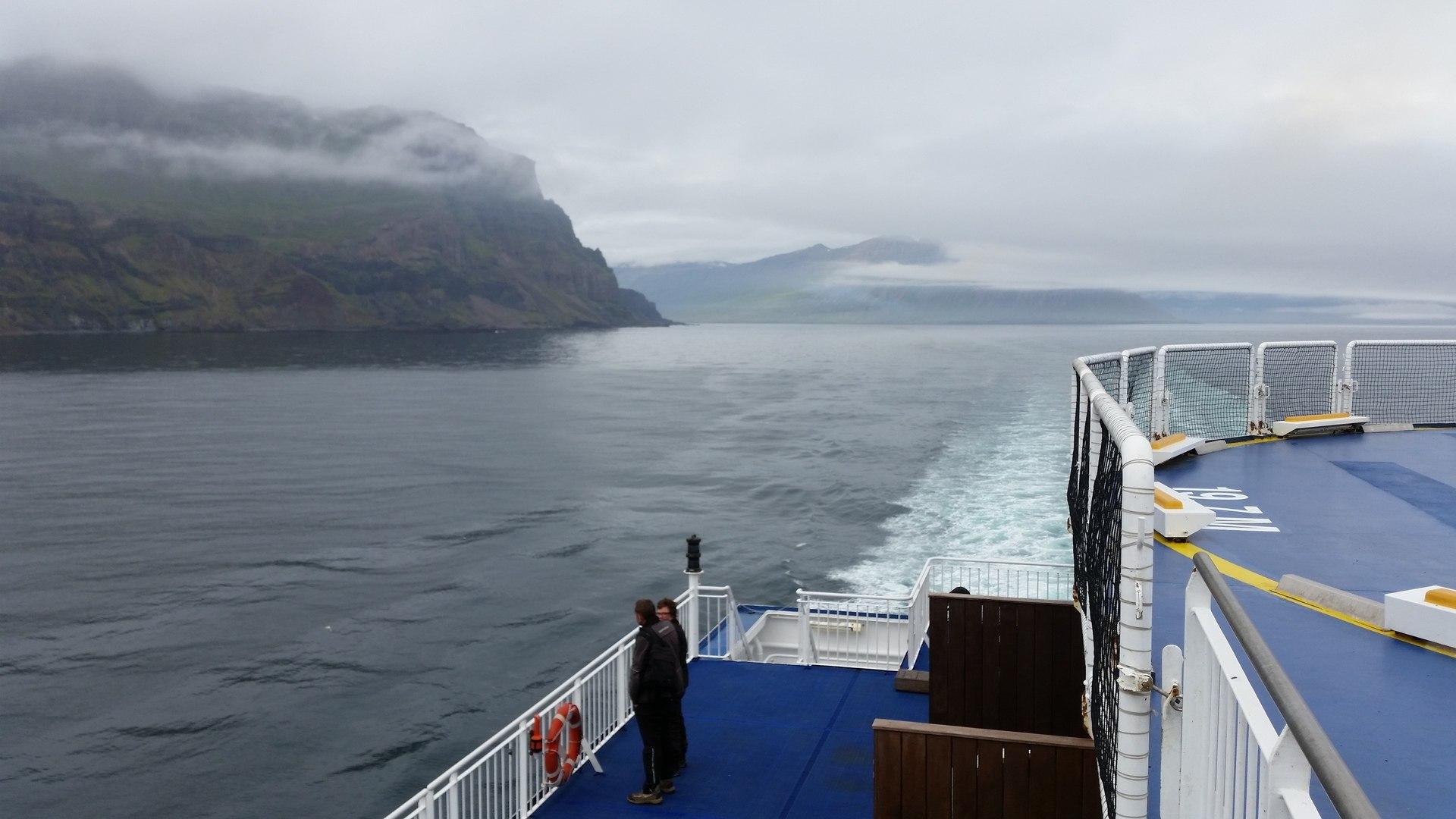 25 août : départ de Seyðisfjörður